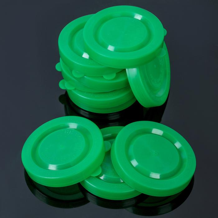 Нaбор крышек для консервировaния «Хозяюшкa», 10 шт, полиэтиленовые, цвет МИКС