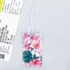 """Бирка на чемодан """"Цветы"""", 6,5 х 10 см"""