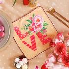 "Towel microfiber ""Share"" LOVE, 30x30 cm, p/e of 200 gr/m2"