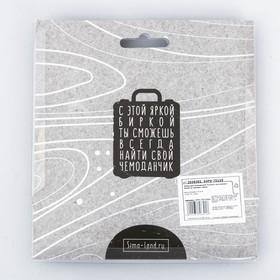 Дорожный набор «Сочного настроения»: багажная бирка, замок - фото 4638087