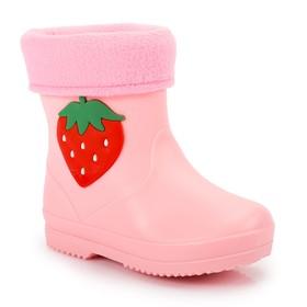 """Сапоги детские с ароматом жвачки MINAKU """"Ягодка"""" розовый р. 31 (20 см)"""