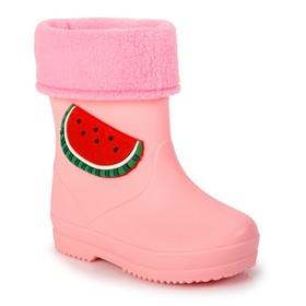 """Сапоги детские с ароматом жвачки MINAKU """"Арбуз"""" розовый р. 31 (20 см)"""