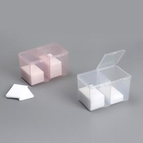 Контейнер для маникюрных принадлежностей, 2 ячейки, 12,5 × 7,5 × 7,5 см, цвет МИКС