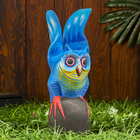 """Сувенир дерево """"Голубая сова"""" 9,5х10х30 см"""
