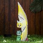 """Сувенир дерево """"Жёлтая сова с совёнком"""" 19х9х60 см"""