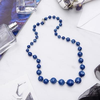 """Beads """"Classic"""" pattern, the color blue, 60 cm"""