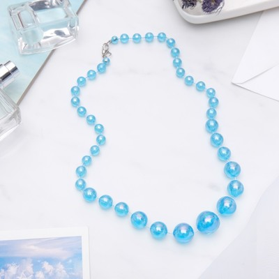 """Beads """"Classic"""" glitter beads, color bright blue, 45 cm"""