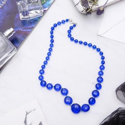 """Бусы """"Монпасье"""" яркие, цвет синий, 50 см"""
