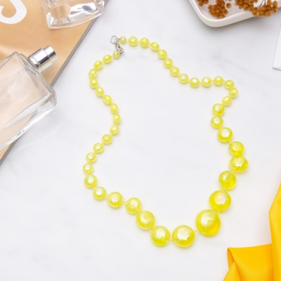 "Beads ""Carlo"" bright, color yellow, 50 cm"