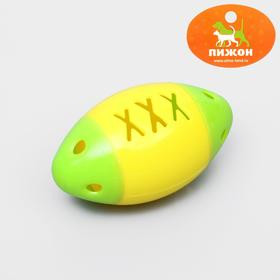 """Игрушка для кошек с бубенчиком """"Регби-мяч"""", 4 см, пластик, микс цветов"""