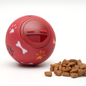 """Игрушка-шар под лакомства """"Косточки и лапки"""", 7,5 см"""