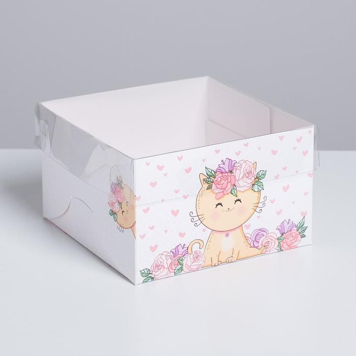 Коробка на 4 капкейка «Милашка», 16 × 16 × 10 см - фото 3848761