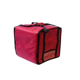 Термосумка на 5-6 пицц 450 х 450 х 300 мм, фольгированная, с вентиляцией, цвет красный