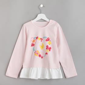 """Джемпер для девочки MINAKU """"Бабочки"""", рост 86-92 см, цвет розовый"""