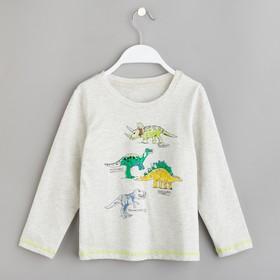 """Толстовка для мальчика MINAKU """"Динозавры"""", рост 86-92 см, цвет серый"""