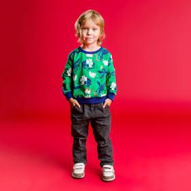 """Толстовка для мальчика MINAKU """"Дракон"""", рост 86-92 см, цвет зелёный"""