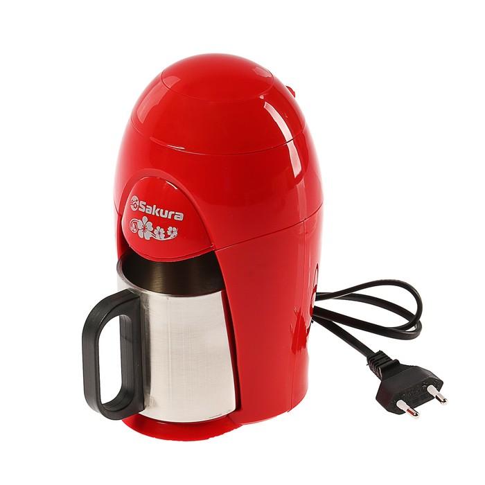 Кофеварка Sakura SA-6106R, капельная, 350 Вт, 0.15 л, красная