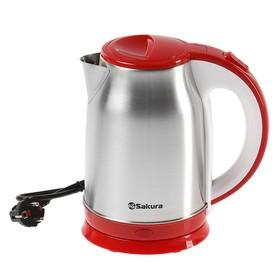 Чайник электрический Sakura SA-2147R, 1800 Вт, 1.8 л, металл, красный