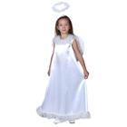 """Карнавальный костюм """"Белый ангел"""", нимб, платье, крылья, р-р 34, рост 134-140 см"""