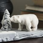 """Сувенир """"Белый медведь на фоне буровой"""" 14,5см - фото 925560"""