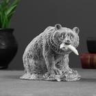 """Сувенир """"Медведь бурый с рыбой"""" 10см"""