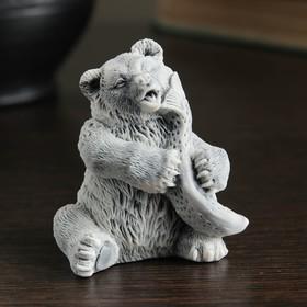 """Сувенир """"Медвежонок с рыбой (3 вида)"""" 6,5см"""