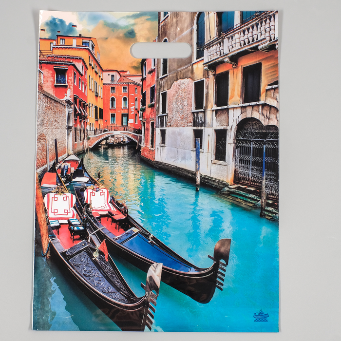 """Пакет """"Лодки"""", полиэтиленовый с вырубной ручкой, 31 х 40 см, 60 мкм - фото 194429853"""