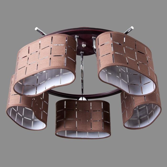 Люстра Vienna 5x40Вт E27 коричневый, хром 50x50x29см