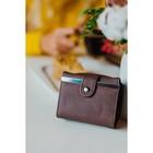 Кошелёк женский, отдел на клапане, цвет кофе - фото 56193
