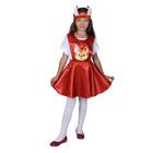 """Карнавальный костюм """"Белочка"""", атлас, сарафан, головной убор, р-р 32, рост 122-128 см"""