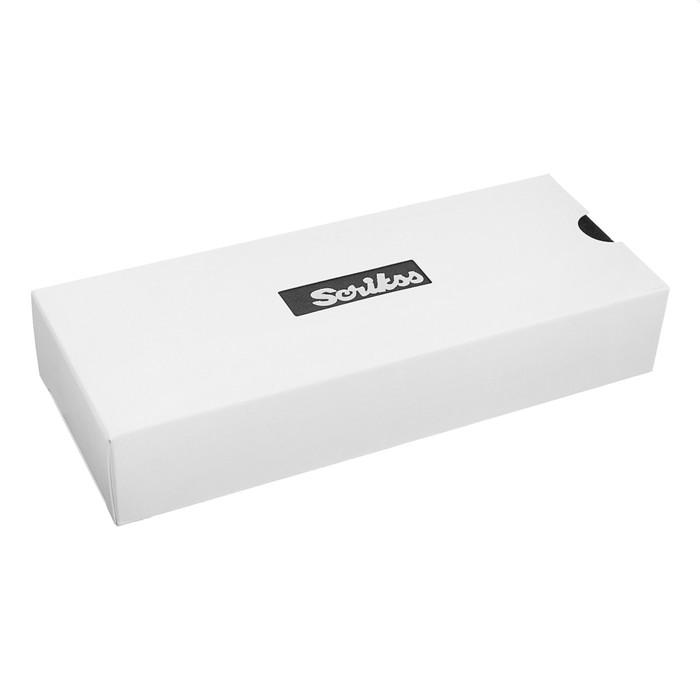 Ручка шариковая подарочная Scrikss Noble 35, поворотная, в чёрном футляре - фото 370901761
