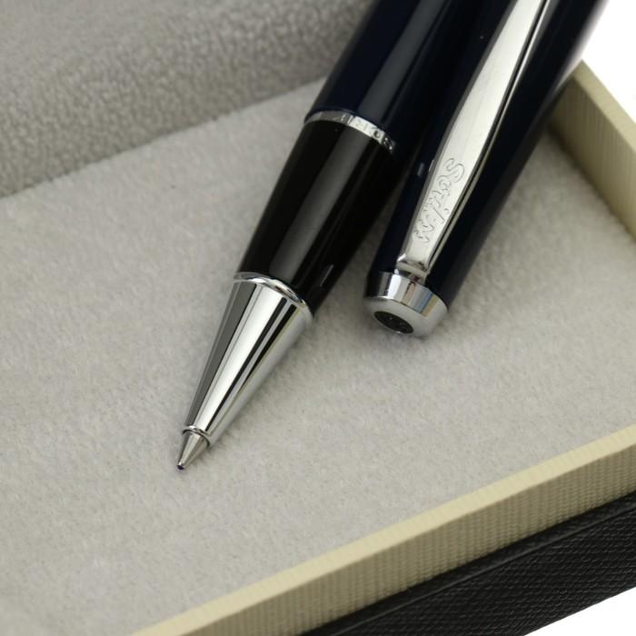 Ручка шариковая подарочная Scrikss Vintage 33, роллер, в чёрном футляре - фото 370901594