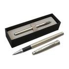 Ручка шариковая подарочная Scrikss Metropolis 800М роллер в черном футляре