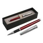 Ручка шариковая подарочная Scrikss Metropolis 800К роллер в черном футляре