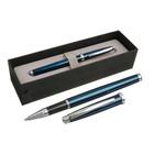 Ручка шариковая подарочная Scrikss Metropolis 800 роллер в черном футляре