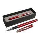 Ручка шариковая подарочная Scrikss Metropolis 800, роллер, в чёрном футляре