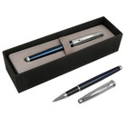 Ручка шариковая подарочная Scrikss Metropolis 800К, роллер, в чёрном футляре