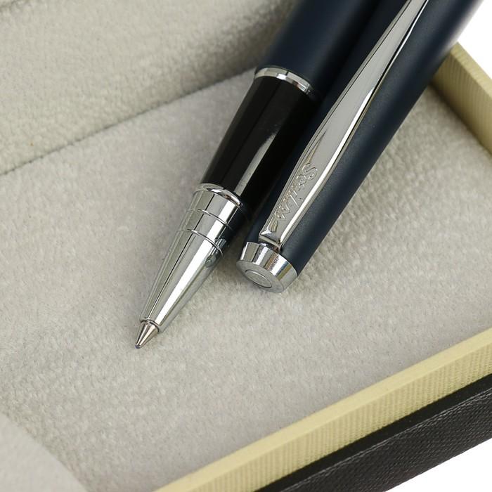 Ручка шариковая подарочная Scrikss Vintage 53С, роллер, в чёрном футляре - фото 366927340