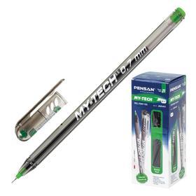"""Ручка шариковая масляная Pensan """"My-Tech"""", чернила зеленые, игольчатый узел 0,7 мм, линия письма 0,35 мм"""