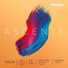Струна скрипичная D'ADDARIO A312 3/4M Ascente A 3/4 medium, нейлон, обмотка алюминий