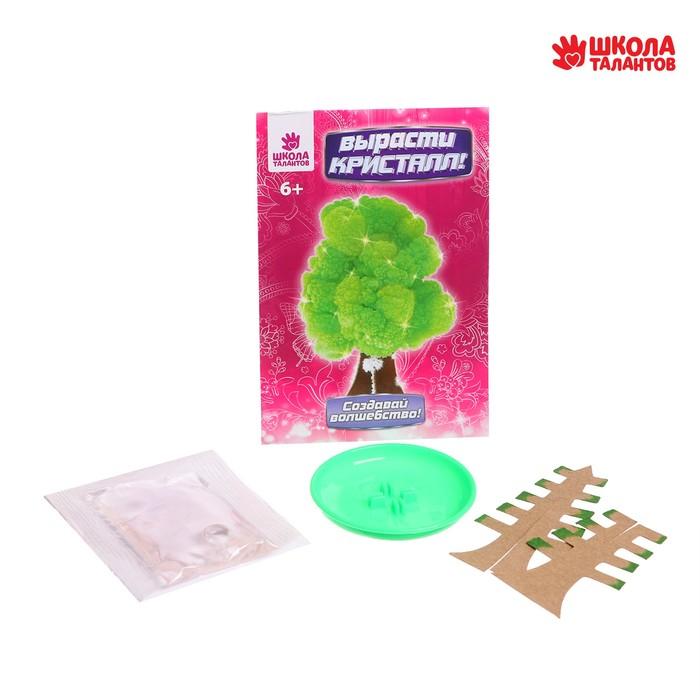 """Набор для выращивания кристалла """"Волшебное дерево"""" цвет зеленый"""