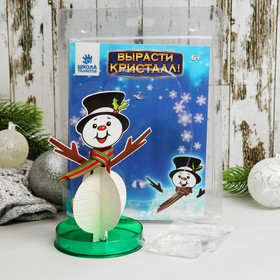 """Set for growing crystal """"Snowman with scarf"""""""