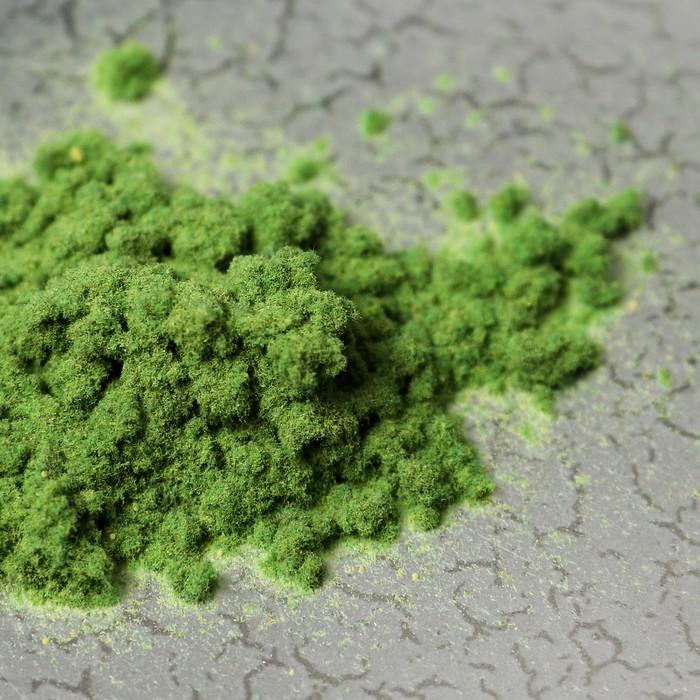 """Иней искусственный клеевой для декора """"Флок эффект"""" 120 г, цвет зеленый"""