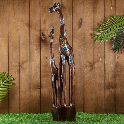 "Интерьерный сувенир ""Два жирафа - радуга"" 100х19х8 см"