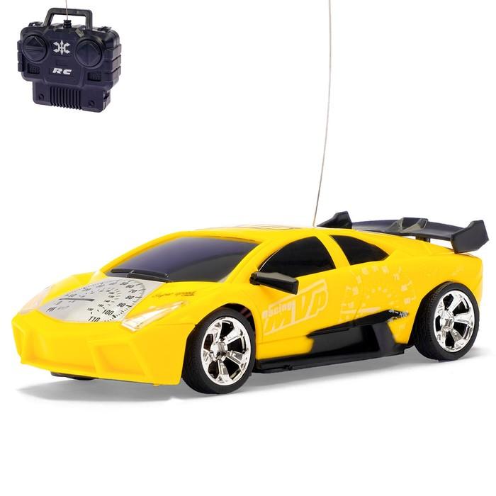 Машина радиоуправляемая «Скорость», работает от батареек, цвета МИКС