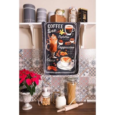 "Полотенце микрофибра ""Доляна"" Кофейная, 40х60 см, п/э 200 гр/м2"