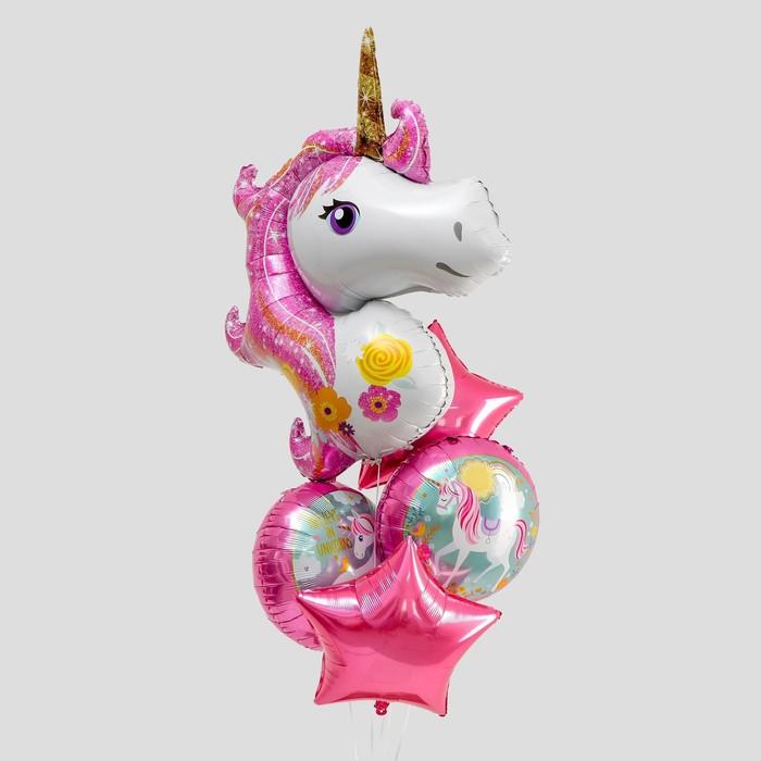 Букет из шаров «Вечеринка принцессы», фольга, набор из 5 шт. - фото 7260838