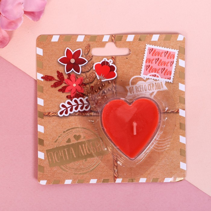 Свеча на открытке «Почта любви» - фото 35610442