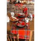 Дорожка на стол «Этель» Шотландка 30×68 см, саржа, 100% хлопок