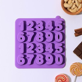"""Form for ice and chocolate """"Numbers"""", 20 cells"""